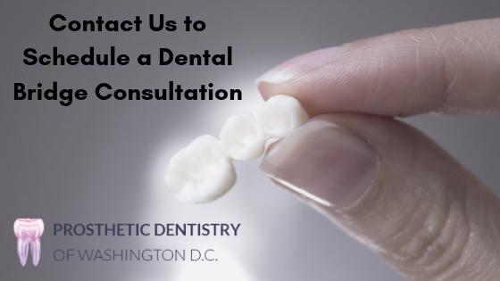 Contact Prosthetic Dentisty of Washington DC Minfographic/CTA