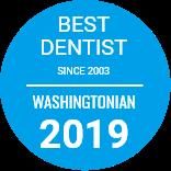 Washingtonian 2019 Award for Top Dentist