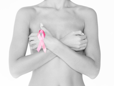 breast cancer image with ribbon