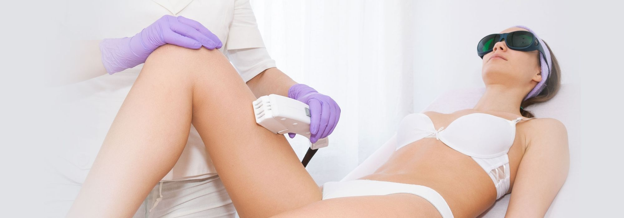Laser hair removal on a elegant woman