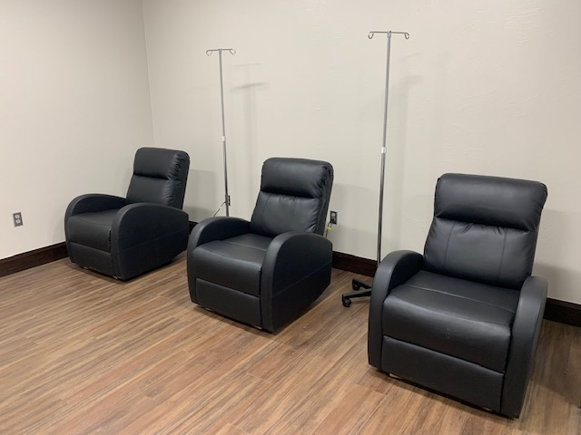 Chairs in the IV room