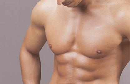 Man with Sculpted Arms, Chest & Abs - Men's Plastic Surgery Treatments at Lakemont Plastic Surgery
