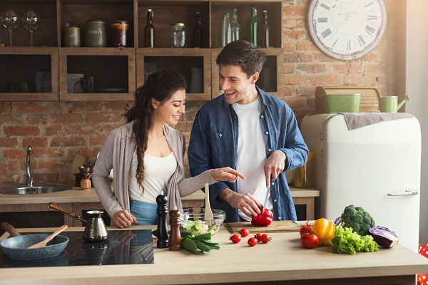 Health Couple Making a Healthy Meal