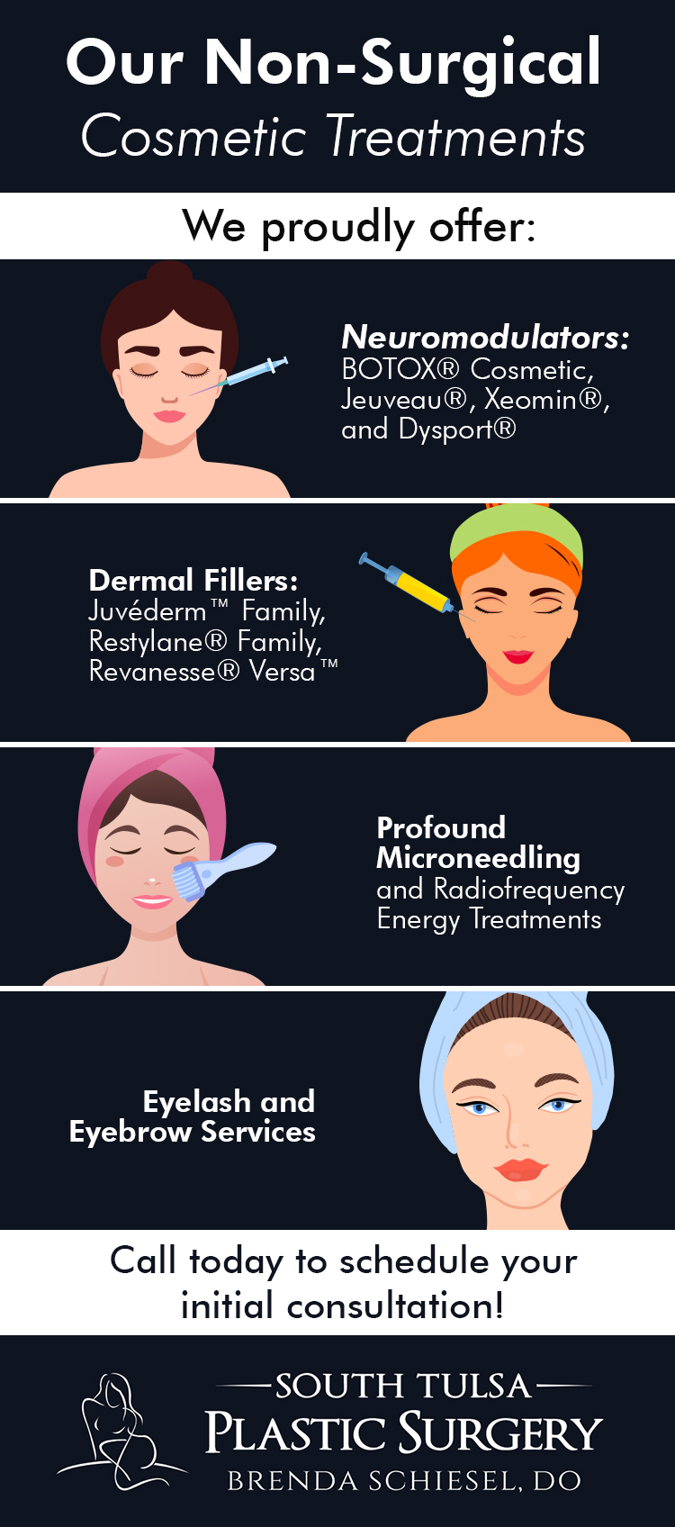 Infographic: Non-Surgical Services at Our Tulsa Plastic Surgery Center