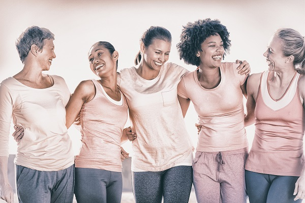 A group of women laughing together