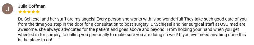 A great review for Tulsa plastic surgeon Dr. Brenda Schiesel