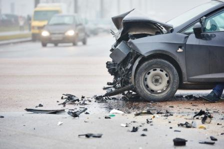 damaged vehicle after a car accident
