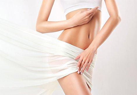 Slender female torso
