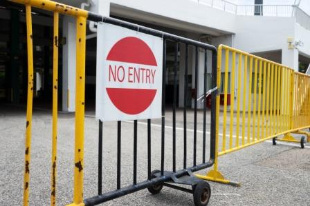 no entry sign outside dangerous property