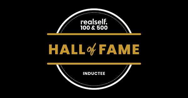 RealSelf Hall of Fame inductee badge for Dr. Victor Perez