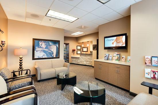 Reception Area - Renue Aesthetic Surgery - Dr. Victor Perez - Overland Park, KS
