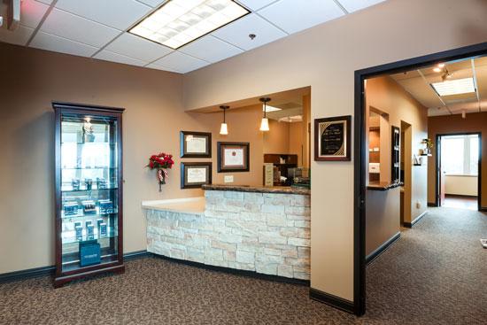 Reception Desk - Renue Aesthetic Surgery - Dr. Victor Perez - Kansas City, KS