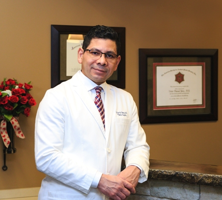 Dr. Victor Perez at Renue Aesthetic Surgery front desk