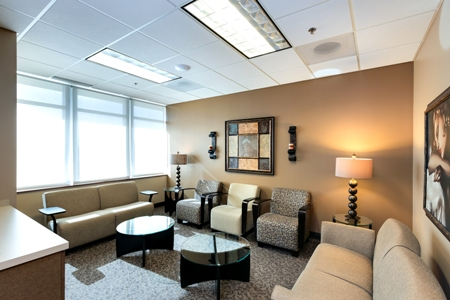 waiting area inside Renue Aesthetic Surgery in Overland Park, KS