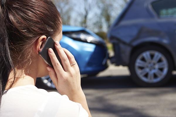 car crash victim calling for help after an accident Atlanta GA