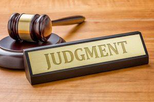 personal injury judgements