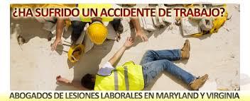 abogados de lesiones laborales en Maryland y Virginia